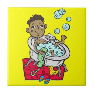 Bathを取っている男の子 タイル