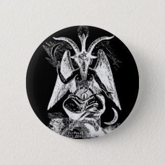 Bathomet (白黒) 5.7cm 丸型バッジ