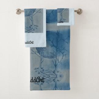 Bathroom Towel Set,Light Blue バスタオルセット