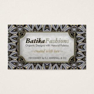 Batikaのエキゾチックなファッションのモダンな種族の名刺 名刺