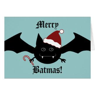Batmasのメリーな間抜けなゴシック様式こうもり カード