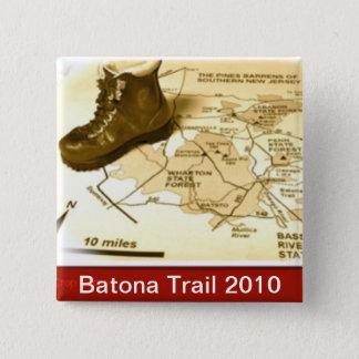 Batonaの道ボタン2010年 5.1cm 正方形バッジ