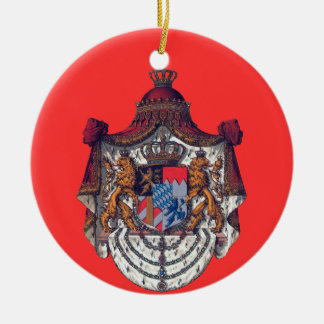 Bavaria*のクリスマスのオーナメント 陶器製丸型オーナメント