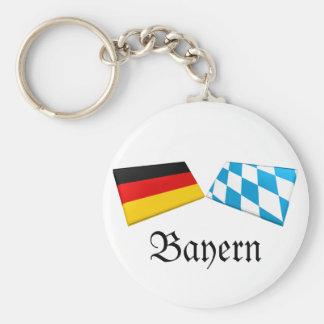 Bayern、ドイツの旗のタイル キーホルダー