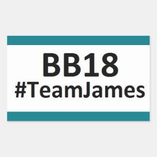 BB18 (お兄さん18)チームジェームスのステッカー 長方形シール