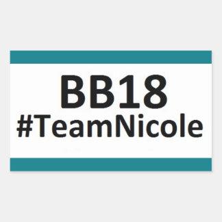 BB18 (お兄さん18)チームニコールのステッカー 長方形シール