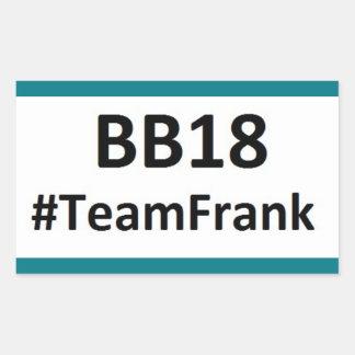 BB18 (お兄さん18)チームフランクのステッカー 長方形シール