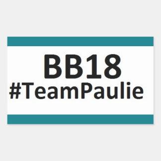 BB18 (お兄さん18)チームPaulieのステッカー 長方形シール
