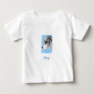 bbillipsによる青い背景犬のアートワーク ベビーTシャツ