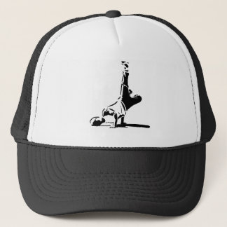 BBoyのシルエットの帽子 キャップ