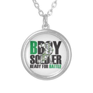BBoyの兵士 シルバープレートネックレス