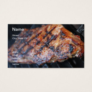 BBQのステーキ 名刺