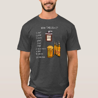BBQのチェックリストの(前部) Tシャツ