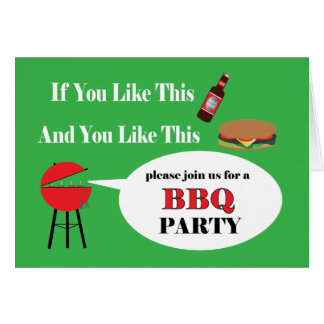 BBQのパーティの招待状カード カード