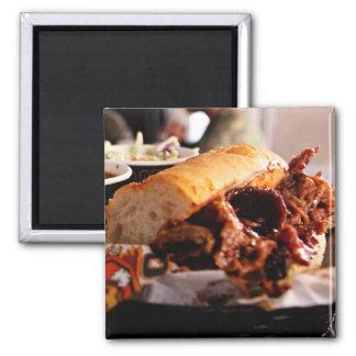 BBQのビーフ胸肉サンドイッチ マグネット
