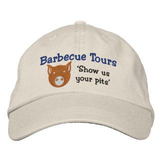 BBQはあや織りの帽子を旅行します 刺繍入りキャップ