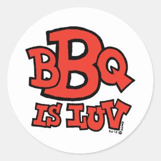 BBQはloveステッカーをあります ラウンドシール