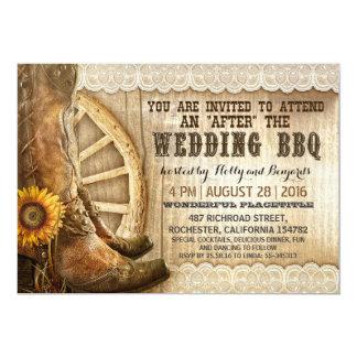 BBQを結婚した後西部カウボーイ・ブーツの国 カード