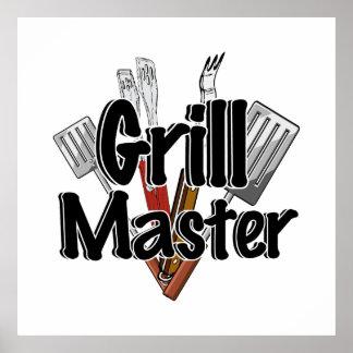 BBQ用具が付いているグリルのマスター ポスター
