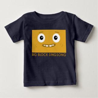 BBSSのおもしろいバンド黄色の赤ん坊のTシャツ ベビーTシャツ
