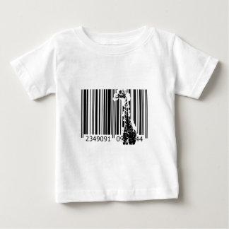 bc01バーコードの芸術のデザインのベクトルおもしろい色 ベビーTシャツ