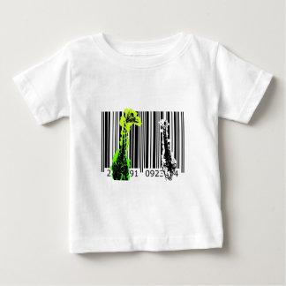 bc02バーコードの芸術のデザインのベクトルおもしろい色 ベビーTシャツ