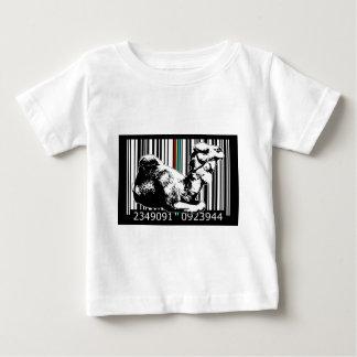 bc16バーコードの芸術のデザインのベクトルおもしろい色 ベビーTシャツ