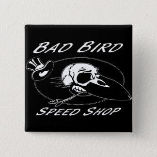 BC&Fの悪い鳥ボタン 5.1CM 正方形バッジ