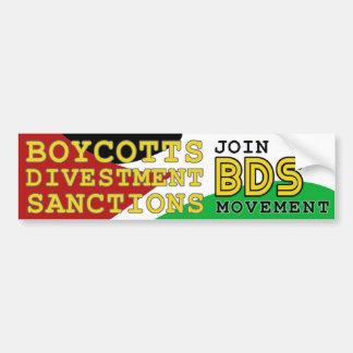 BDSの動きサポートパレスチナを結合して下さい バンパーステッカー