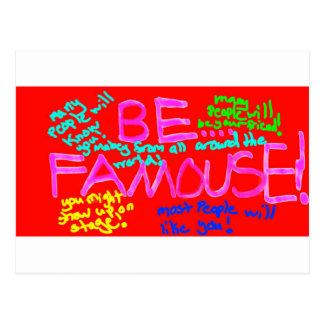 Be_Famous ポストカード