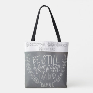 Be Still & Know That I Am God Tote Bag トートバッグ