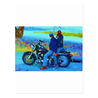 Beacgのオートバイの恋人 ポストカード