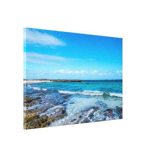 Beach&Oceanの熱帯眺め キャンバスプリント