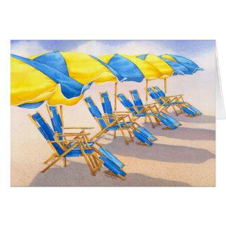 Beachbrellasを招くこと カード