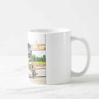 Beachcraft Staggerwingのヴィンテージの航空機 コーヒーマグカップ