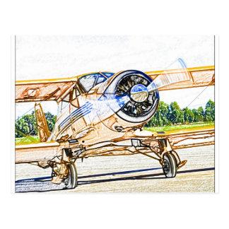 Beachcraft Staggerwingのヴィンテージの航空機 ポストカード