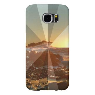 Beachscape抽象的なSamsung S6のやっとそこに場合 Samsung Galaxy S6 ケース