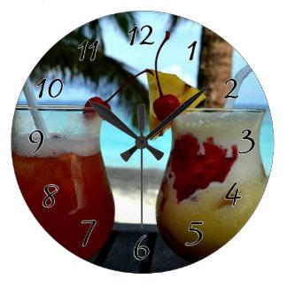 Beachyカクテル ラージ壁時計