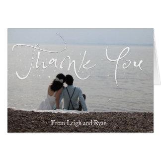 Beachy結婚式のサンキューカード カード