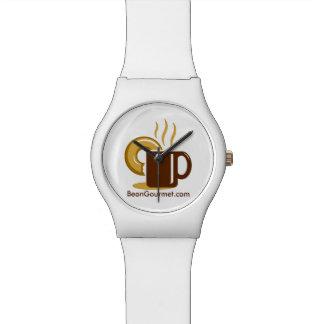 BeanGourmet.comのスタイリッシュで白い腕時計 腕時計