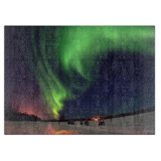 bear湖のNorthern Lights カッティングボード