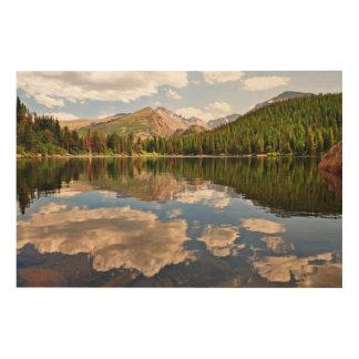 bear湖。 コロラド州 ウッドウォールアート