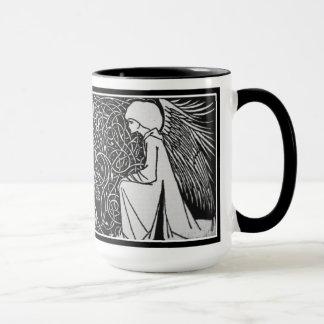 Beardsleyの天使のアールヌーボーのマグ マグカップ