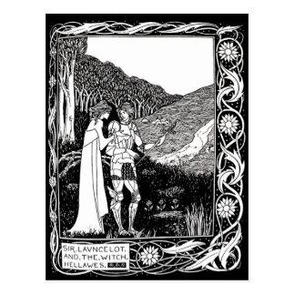 Beardsley Lancelot及び魔法使いの郵便はがき ポストカード