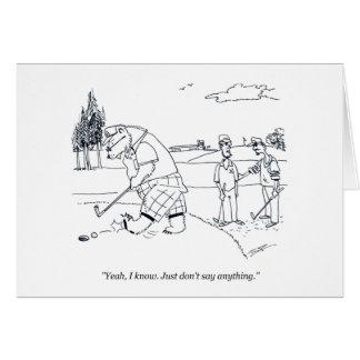 Bearlyのゴルフゴルフ漫画の挨拶状 カード