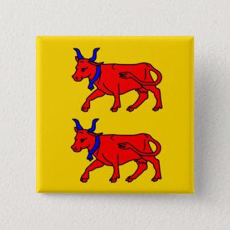 Bearnのフランスの旗 5.1cm 正方形バッジ