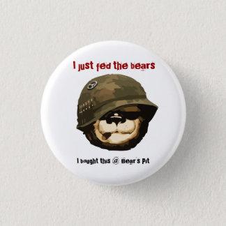 """Bearpit """"私はちょうどくま""""ボタン食べ物を与えました 3.2cm 丸型バッジ"""