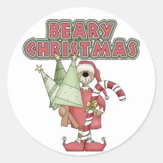 Bearyのクリスマスくま ラウンドシール