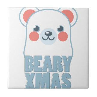 Bearyのクリスマス タイル
