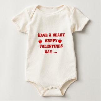Bearyの幸せなバレンタインデーを…過して下さい ベビーボディスーツ